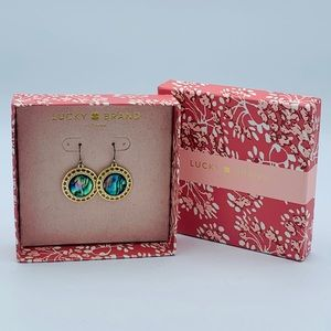 Lucky Brand Earrings Natural Abalone drop round